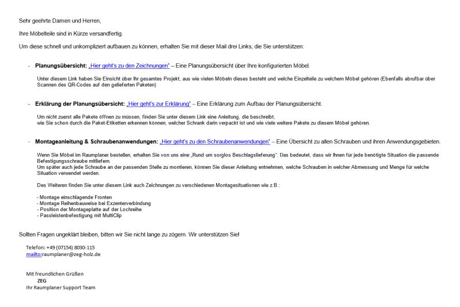 E-Mail-Raumplaner-Auftrag